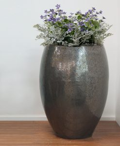 chocolate tall egg planter